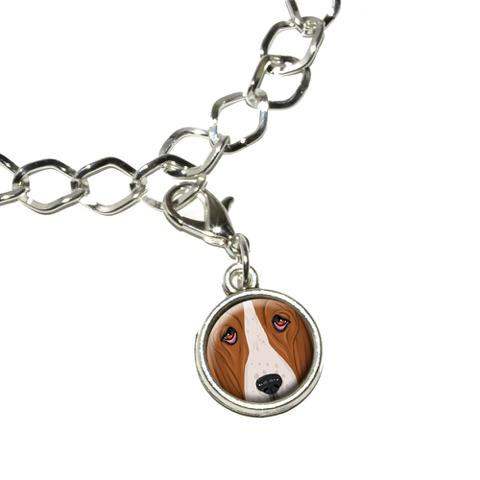 Basset Hound Face - Dog Pet Bracelet Charm