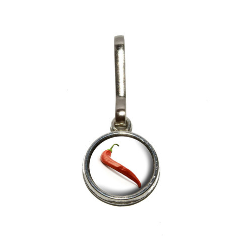 Red Hot Chili Pepper Charm Zipper Pull