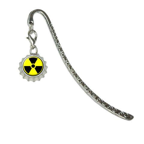 Radioactive Nuclear Warning SymbolMetal Bookmark with Bottlecap Charm