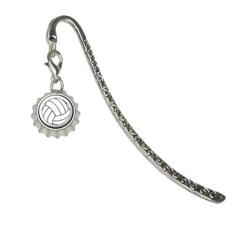 VolleyballMetal Bookmark with Bottlecap Charm