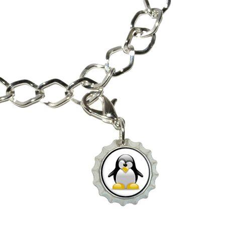 Penguin - Snow Bird Bottlecap Charm