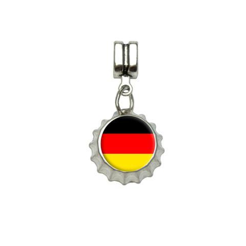 German Germany Flag European Style Bracelet Bottlecap Charm