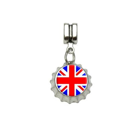 Britain British Flag - Union Jack European Style Bracelet Bottlecap Charm