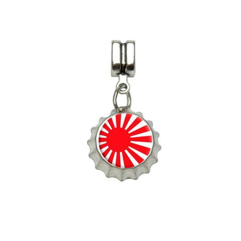 Japan Japanese Flag Rising Sun European Style Bracelet Bottlecap Charm