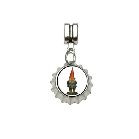 Garden Gnome European Style Bracelet Bottlecap Charm