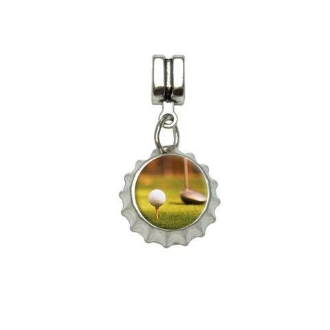 Golf Ball Club - Golfing European Style Bracelet Bottlecap Charm