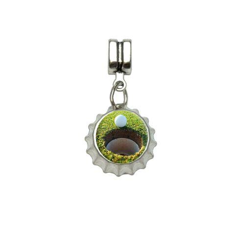 Golf Ball and Hole - Golfing European Style Bracelet Bottlecap Charm