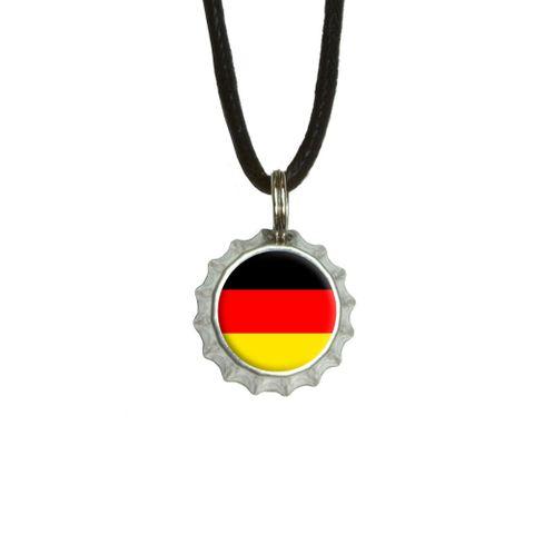 German Germany Flag Bottlecap Small Pendant