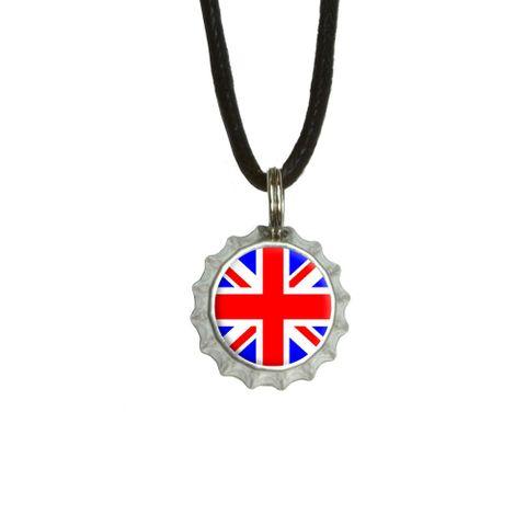 Britain British Flag - Union Jack Bottlecap Small Pendant