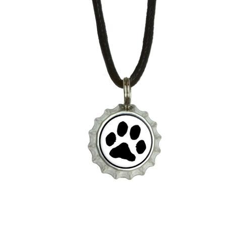 Paw Print - Pet Dog Cat Bottlecap Small Pendant