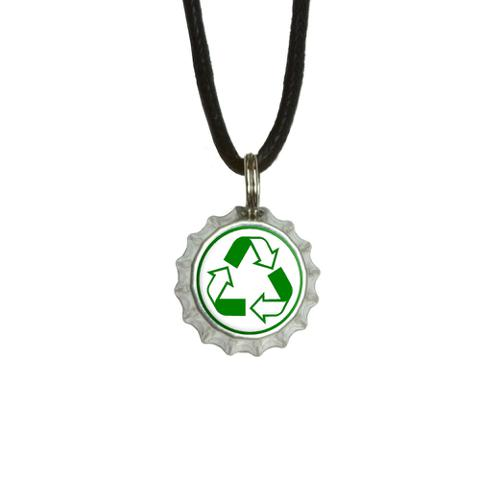 Recycle Reuse Conservation - Hybrid Bottlecap Small Pendant