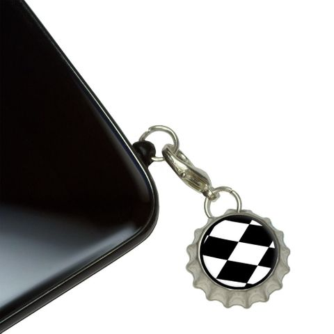 Checkered Flag - Racing Mobile Bottlecap Phone Charm