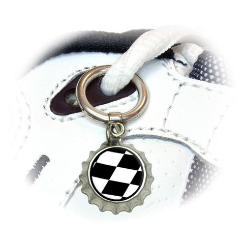 Checkered Flag - Racing Shoe Bottlecap Charm