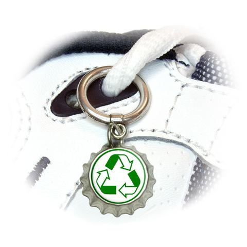 Recycle Reuse Conservation - Hybrid Shoe Bottlecap Charm