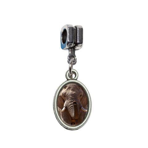 Africa African Elephant European Style Bracelet Oval Charm