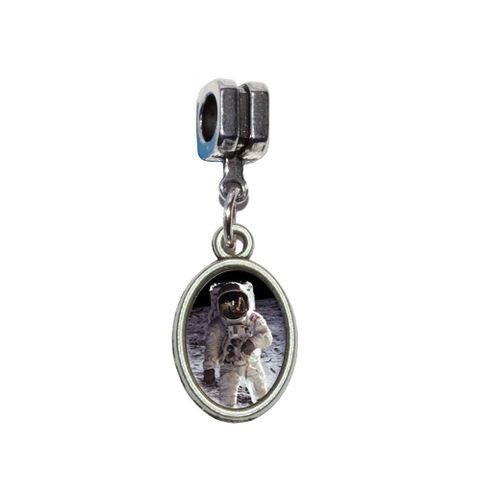 Apollo 11 Moon Landing - Astronaut Space European Style Bracelet Oval Charm