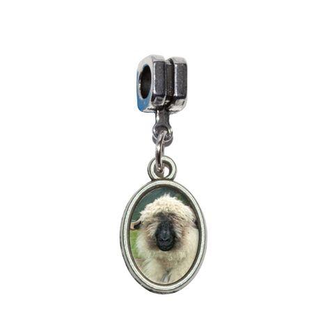 Valais Blacknose Sheep - Switzerland European Style Bracelet Oval Charm