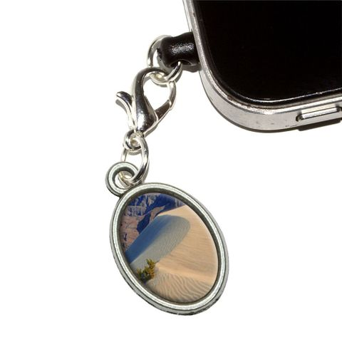 Death Valley National Park CA - Sand Dunes Oval Mobile Phone Charm