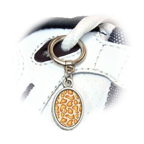 Giraffe Print Oval Shoe Charm