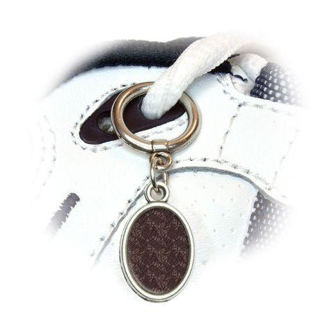 Elephant Print Oval Shoe Charm