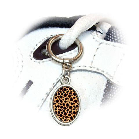 Cheetah Print Oval Shoe Charm