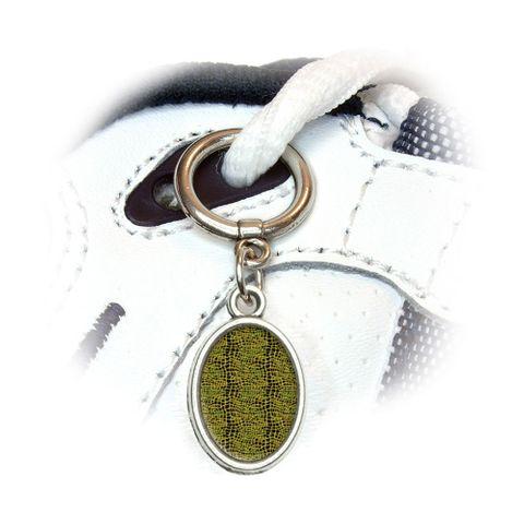 Alligator Reptile Print Oval Shoe Charm