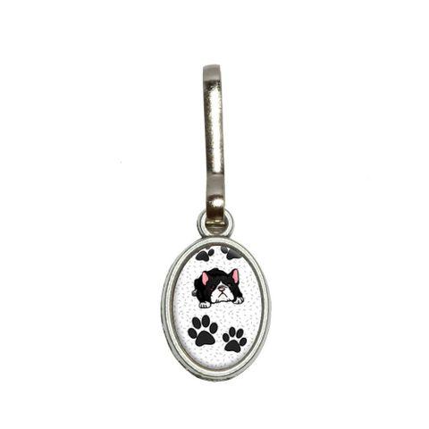 Boston Terrier of Awesomeness Oval Zipper Pull