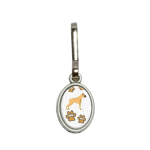Boxer of Radiance Oval Zipper Pull