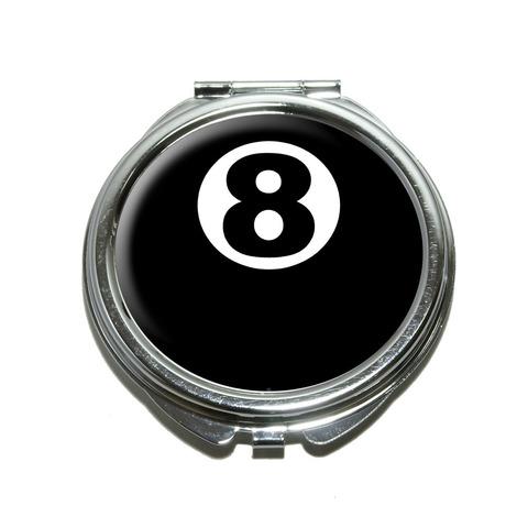 Eight Ball - Pool Billiards Compact Mirror