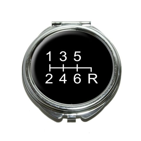 6 Speed Shift Knob Compact Mirror