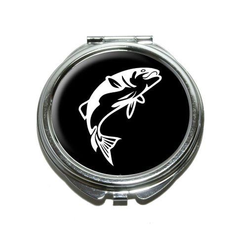 Fish Bass Jumping Compact Mirror