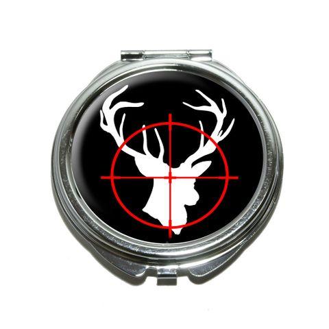 Deer Buck Hunting Compact Mirror