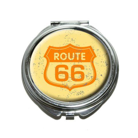 Route 66 Vintage Compact Mirror