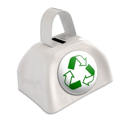 Recycle Hybrid White Cowbell Cow Bell