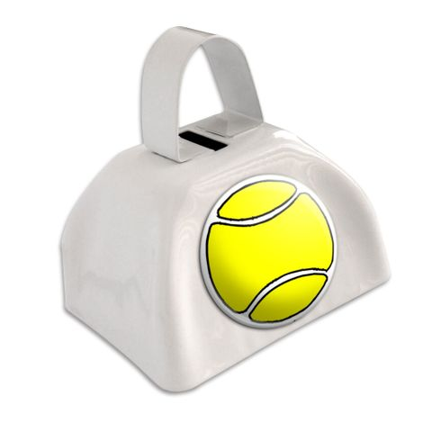 Tennis Ball White Cowbell Cow Bell - No. 1