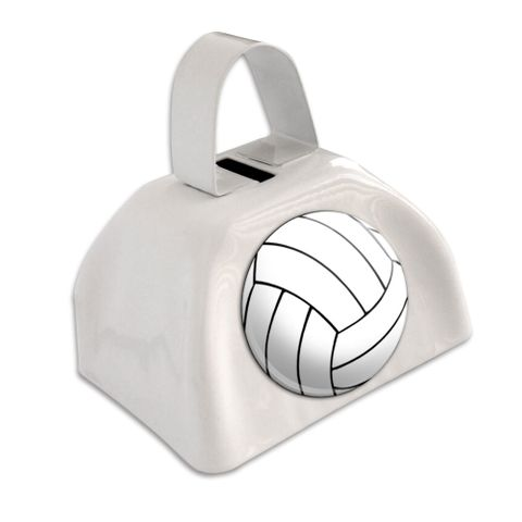 Volleyball White Cowbell Cow Bell - No. 1
