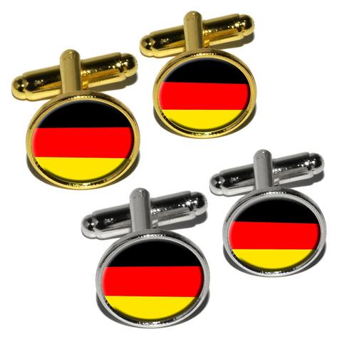 German Germany Flag Round Cufflinks