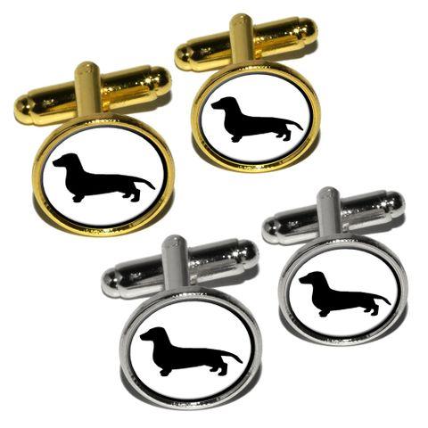 Dachshund - Weiner Dog Round Cufflinks