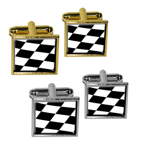 Checkered Flag - Racing Square Cufflinks