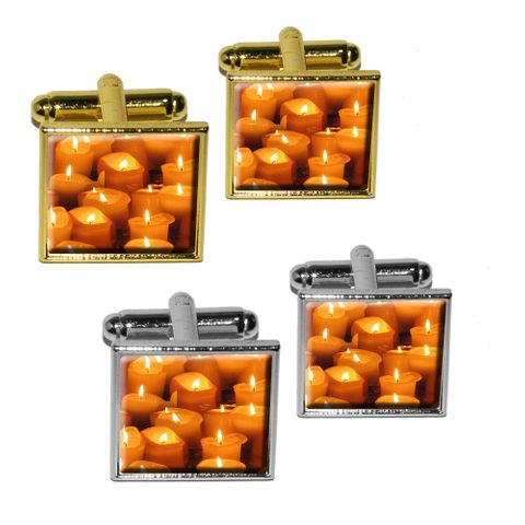 Candles - Religious Square Cufflinks