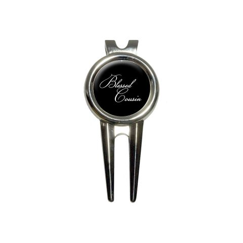 Blessed Cousin on Black Golf Divot Repair Tool