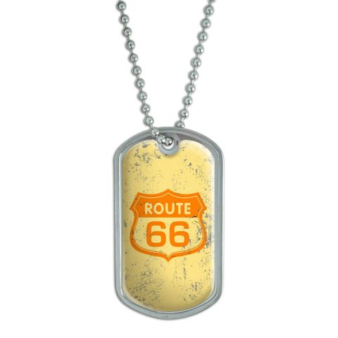 Route 66 Vintage Dog Tag