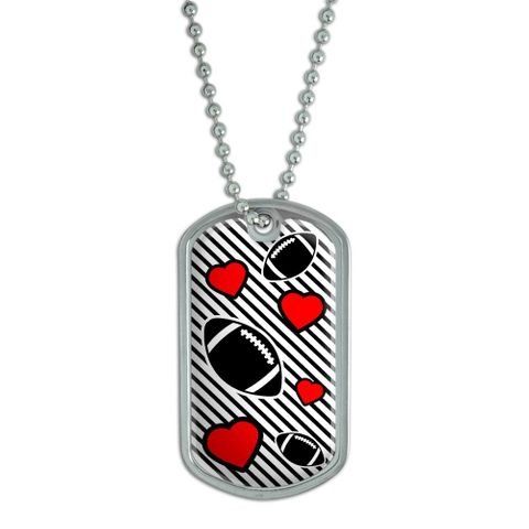 Football Love Dog Tag