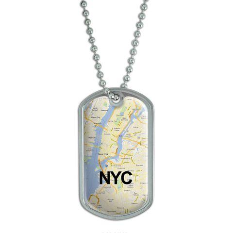 New York City Map - NYC Dog Tag