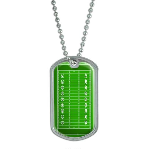 Football Field Dog Tag