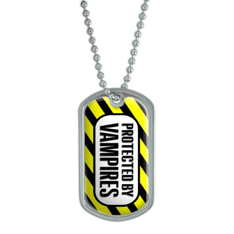 Protected by Vampires Dog Tag