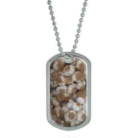 Garlic - Cloves Tubers Heads - Vampire Protection Dog Tag