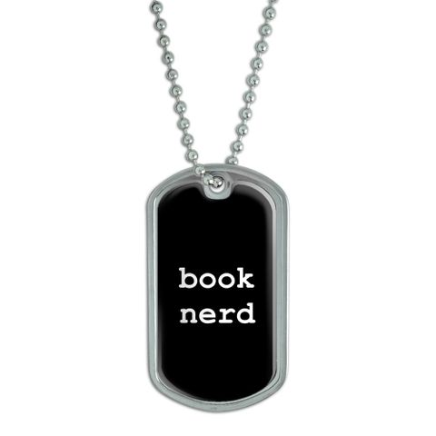 Book Nerd Dog Tag