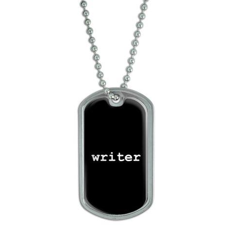 Writer Dog Tag