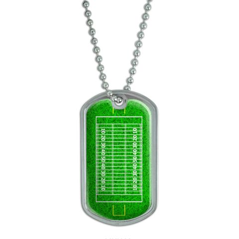 Football Field - Touchdown Dog Tag